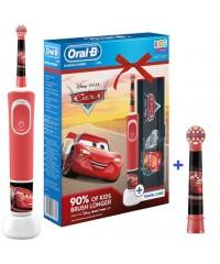 Vitality D100 Oral-B Тачки Cars с футляром Детская зубная щетка Oral-B 2 насадки