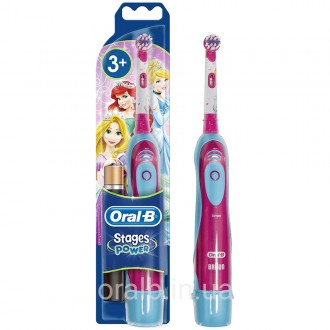 DB4.510.К Принцесса Детская щетка Oral-B на батарейке 3 насадки