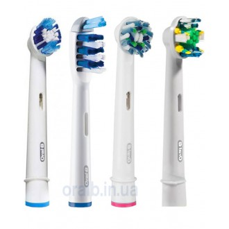 """4-Экшен+"" Набор насадок для зубных щеток Oral-B 4 шт."