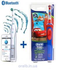 D36 pro 6000+D12 Тачки Семейный набор зубные щетки Oral-B 8 насадок