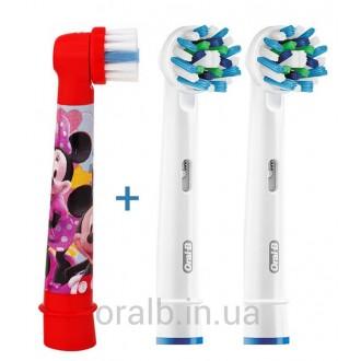 """Микки+Cross Action"" Набор насадок для зубных щеток Oral-B 3 шт."
