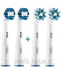 """""""Precision Clean+Cross"""" Набор насадок для зубных щеток Oral-B 4 шт."""