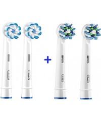 Sensi+Cross Набор насадок для зубных щеток Oral-B 4 шт.