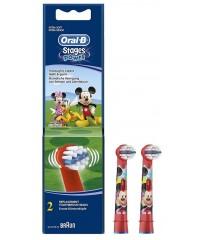 EB10 Микки Маус Детские насадки для зубных щеток Oral-B 2 шт.