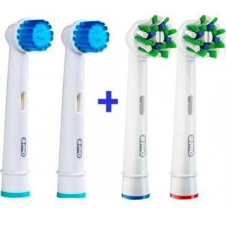 Sensitive+Cross Набор насадок для зубных щеток Oral-B 4 шт.