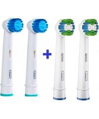 """""""Sensitive+Precision Clean"""" Набор насадок для зубных щеток Oral-B 4 шт."""