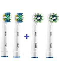 Floss + Cross Набір насадок для зубних щіток Oral-B 4 шт.