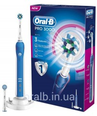 D20 Pro 3000 Синяя Зубная щетка Oral-B 2 насадки