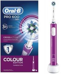 Cross Action Pro D16/600 Фиолетовая Зубная щетка Oral-B 1 насадка