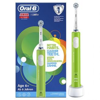 D16.513 Junior Sensi Ultrathin Салатовая Зубная щетка для детей 6+ Oral-B 1 насадка