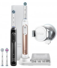 Genius 10900 Pro Black+Rose Gold Зубные щетки Oral-B 4 насадки