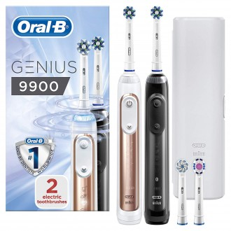 Genius 9900 Pro Black+Rose Gold Зубные щетки Oral-B 4 насадки