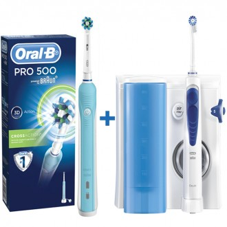 MD20 OxyJet+D16/500 Professional Care Ирригатор+Зубная щетка Oral-B 6 насадок