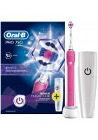 D16 Pro 750 Pink 3D White Зубная щетка Oral-B 1 насадка