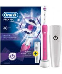 D16 pro 750 Pink + MD20 OxyJet Сімейний набір Oral-B 6 насадок