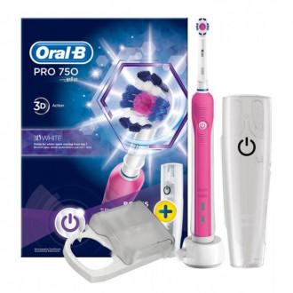"""D16 Pro 750 Pink 3D White + """"Контейнер"""" Зубная щетка Oral-B 1 насадка"""