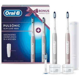 Pulsonic Slim Luxe 4900 Rose Gold+Platinum Ультразвуковая щетка Oral-B 2 насадки