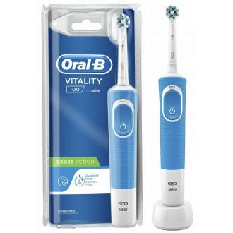 Vitality D100 Cross Action Blue Зубная щетка Oral-B 1 насадка