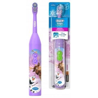 DB3.010 Frozen Холодное Сердце Детская электрическая зубная щетка Oral-B на батарейке 1 насадка