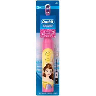 DB3.010 Princess Принцесса Детская электрическая зубная щетка Oral-B на батарейке 1 насадка