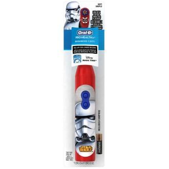 DB3.010 Star Wars Звездные Войны Детская электрическая зубная щетка Oral-B на батарейке 1 насадка