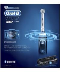 Genius 9100 S Black зубная щетка Oral-B 4 насадки