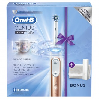 Genius 9300 Gold Rose Зубная щетка Oral-B 4 насадки