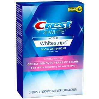 Отбеливающие полоски Crest 3D White Whitestrips Gentle Routine 28 шт. для чувствительных зубов