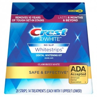 Отбеливающие полоски Crest 3D White Whitestrips Dental Whitening Kit Glamorous 28 шт.