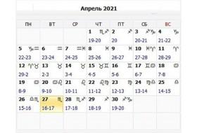 Місячний  календар лікування  зубів на квітень 2021