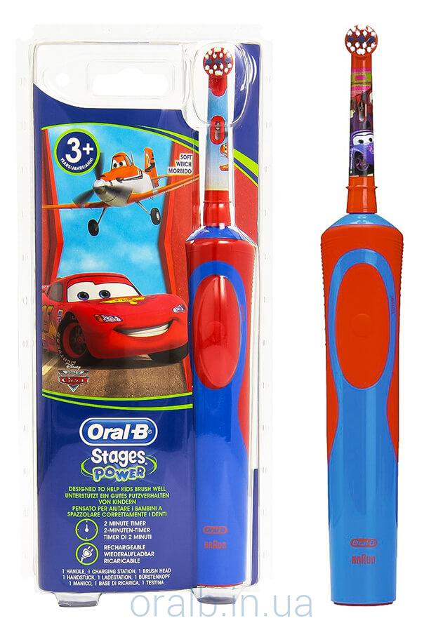Дитяча електрична зубна щітка Braun Oral-B Stages Тачки D12.513K 988f2adb0077b