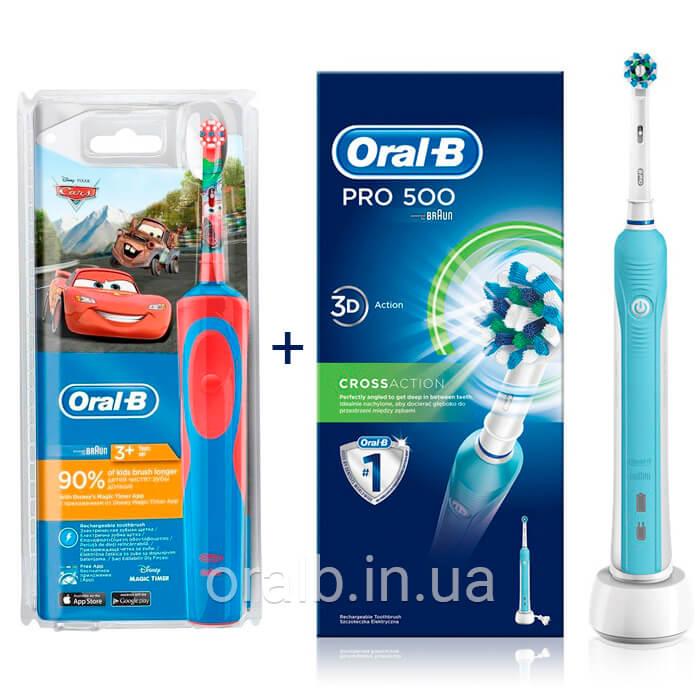 Сімейний набір з 2 зубних щіток Oral-B Тачки D12.513K і D16   500 95a237c66d2aa